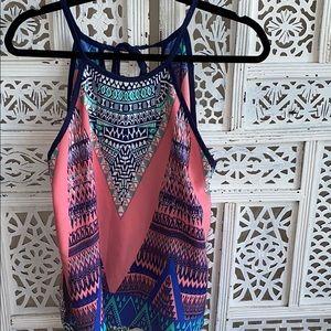 Multicolored pattern tank top